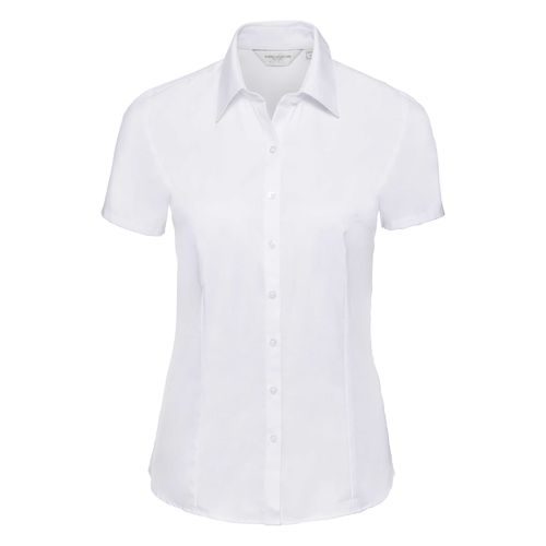 Ladies' Short Sleeve Tailored Herringbone Shirt