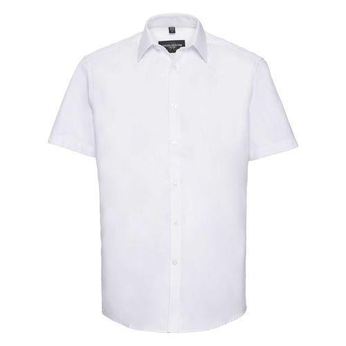 Men's Short Sleeve Tailored Herringbone Shirt