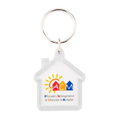 Porte-clés acrylique maison