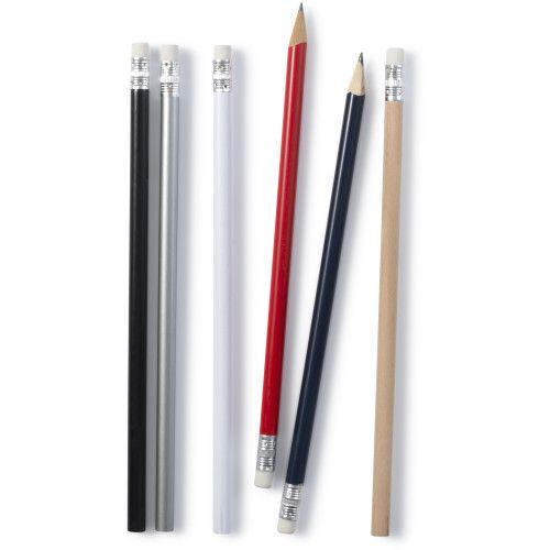 Crayon à papier avec gomme.