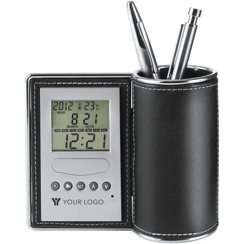 Pot à crayons en PU et métal