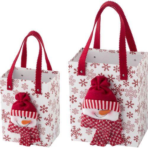 Set de 2 sacs en polyester surmontés