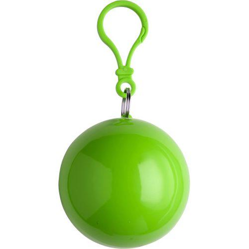 Etui boule contenant un poncho,