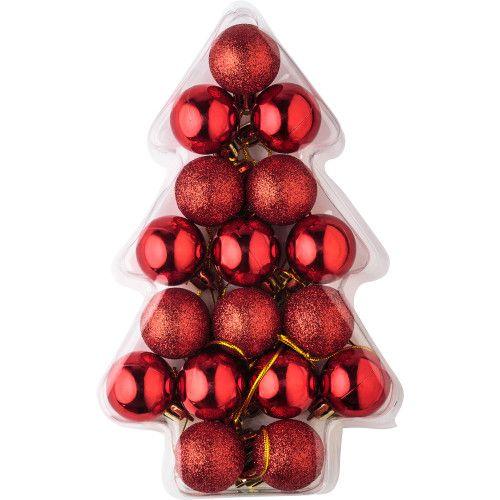 Set composé de 17 boules de Noël