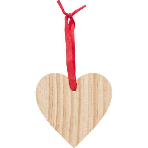 Décoration de Noël en bois Cœur