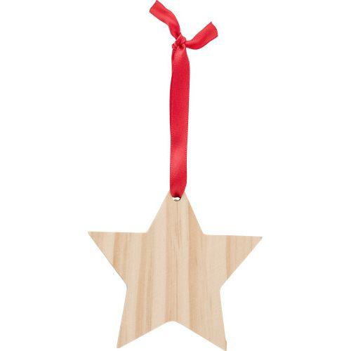 Décoration de Noël en bois Étoile