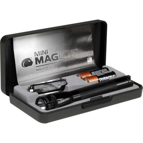 Aluminium torch Mag-lite mini with pocket knife Victorinox brindes LISBOA