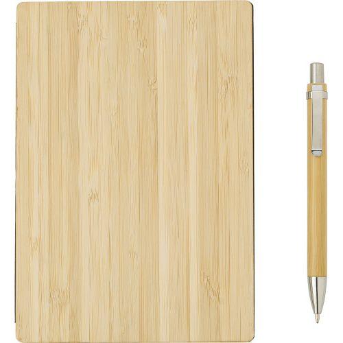 Carnet A5 avec couverture en bambou.