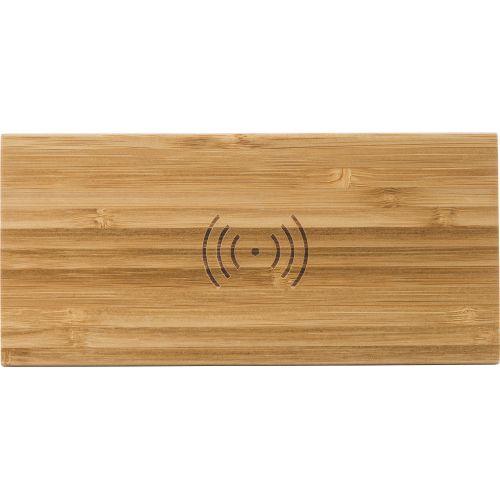 Chargeur à induction fil en bambou
