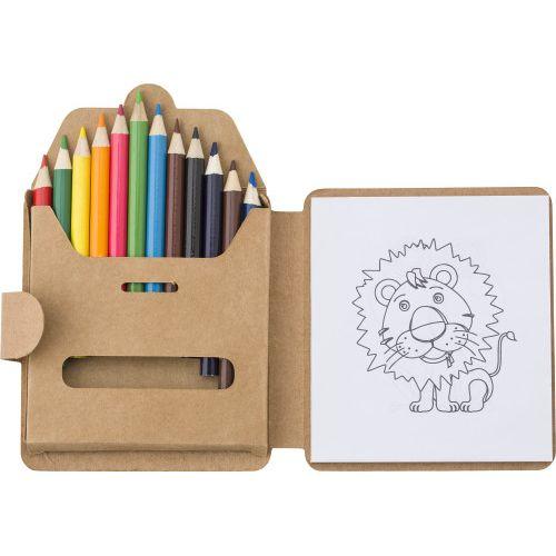 Set à dessin de 12 crayons