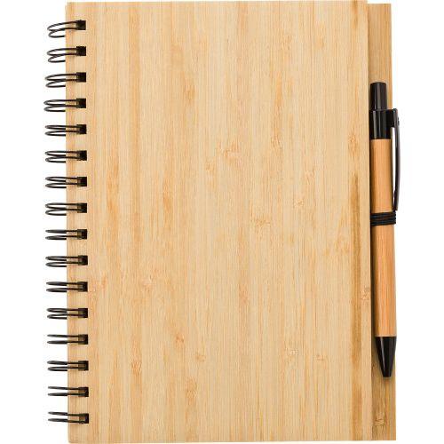 Carnet de notes en bambou