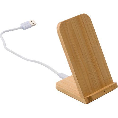 Chargeur à induction en bambou
