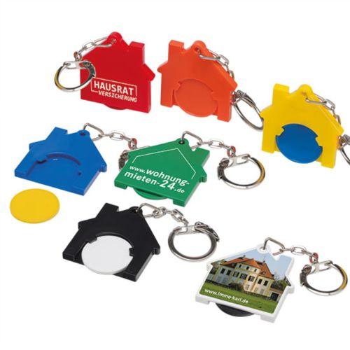 "Porte-clés jeton1 euro ""Maison"""