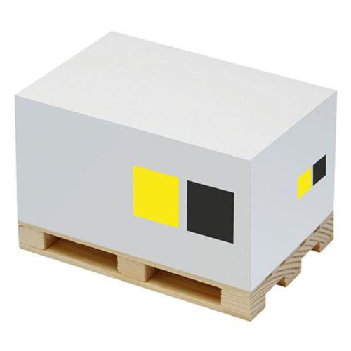 Cube papier sur palette OBJECTIFIED Bruxelles