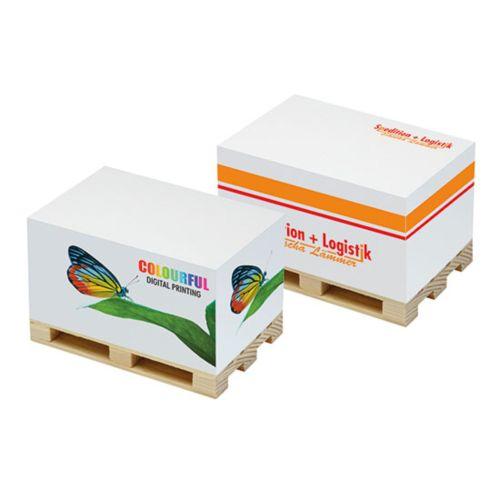 Cube papier sur palette personnalisé  goodies objets publicitaires