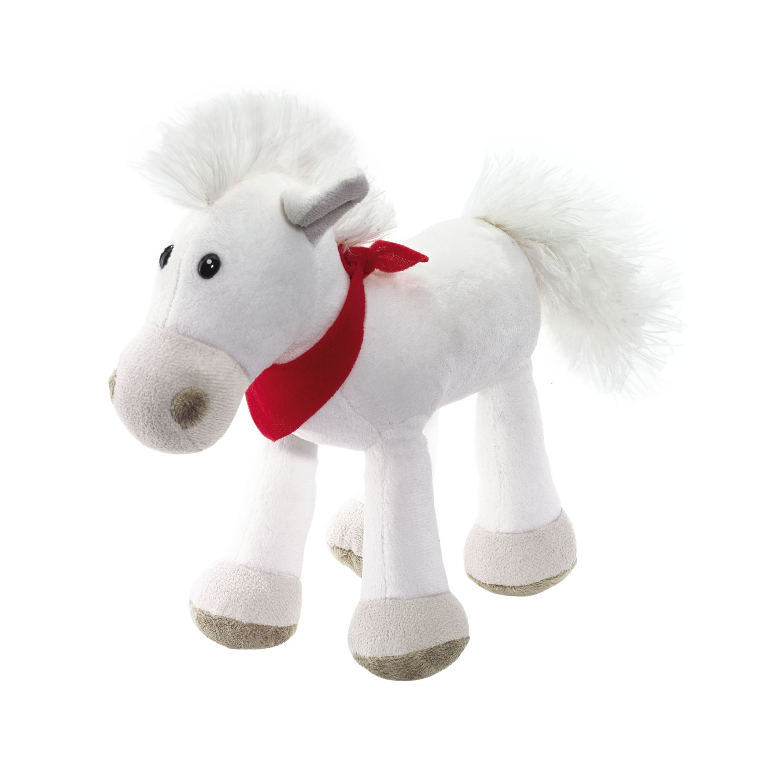 Plush horse JONNY with red scarf (packed separately)