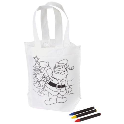 Sac de Noël à colorier COLOURFUL CARRY par EG Diffusion 07210 BAIX Objets publicitaires et Cadeaux d'affaires Textile, PLV, Goodies, vêtement de travail, objets éco et durables , stylos , USB, multimédia