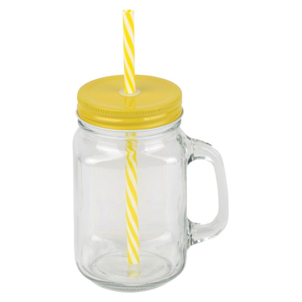 Retro jar mug SUMMER DRINK