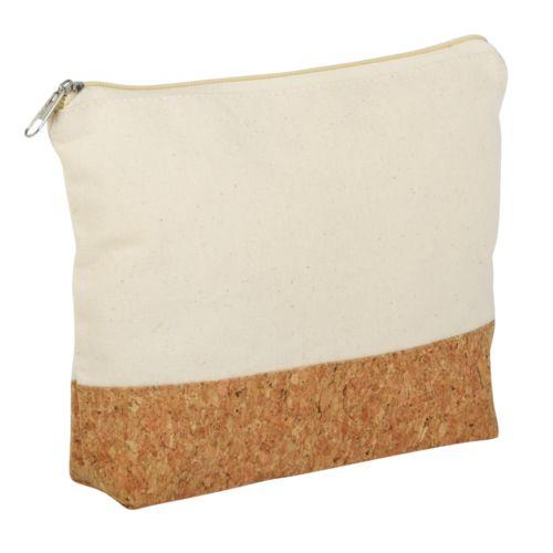 Sac à ustensiles CORK: avec fermeture éclair, grande ouverture et intérieur spacieux, pratique et polyvalent, combination durable de coton et de liège
