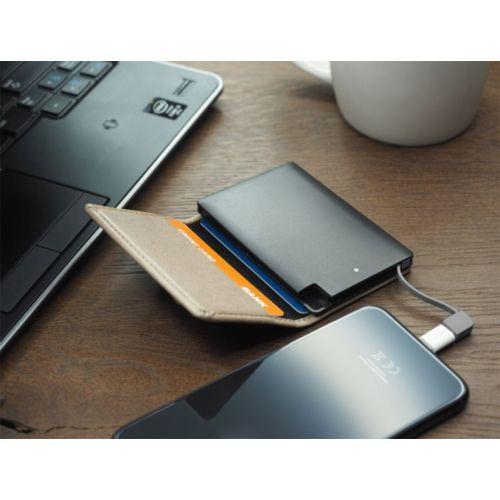 Étui à carte de crédit avec Power Bank