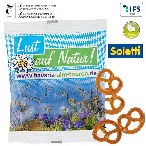 Mini bretzels, sachet compostable