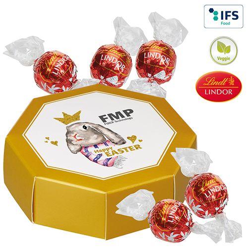 Boîte cadeau octogonale Lindor  personnalisé montpellier Paris Ile de France
