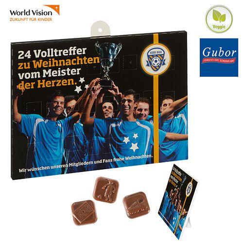 Calendrier football en chocolat