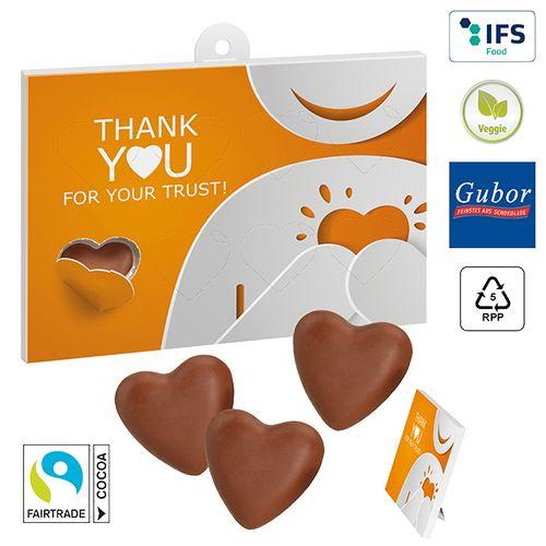 Cœurs en chocolat à offrir