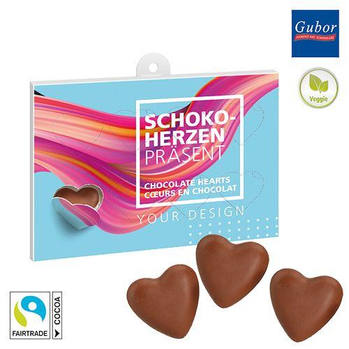 Cœurs en chocolat à offrir - petite quantité