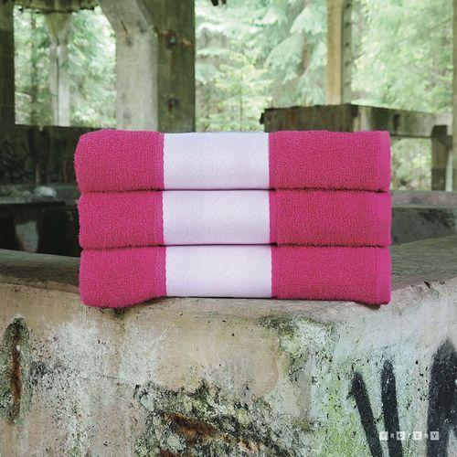 PRINT Duschtücher mit bedruckter Polyesterbordüre