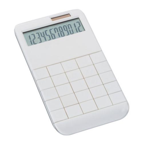 Calculatrice solaire REEVES-SPECTACULATOR WHITE  AZAP  Objets publicitaires personnalisé par Azap articles promotionnels Cadeau d'affaire