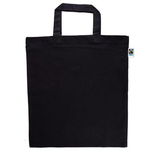 Cotton bag Fairtrade with long handles natural incl print