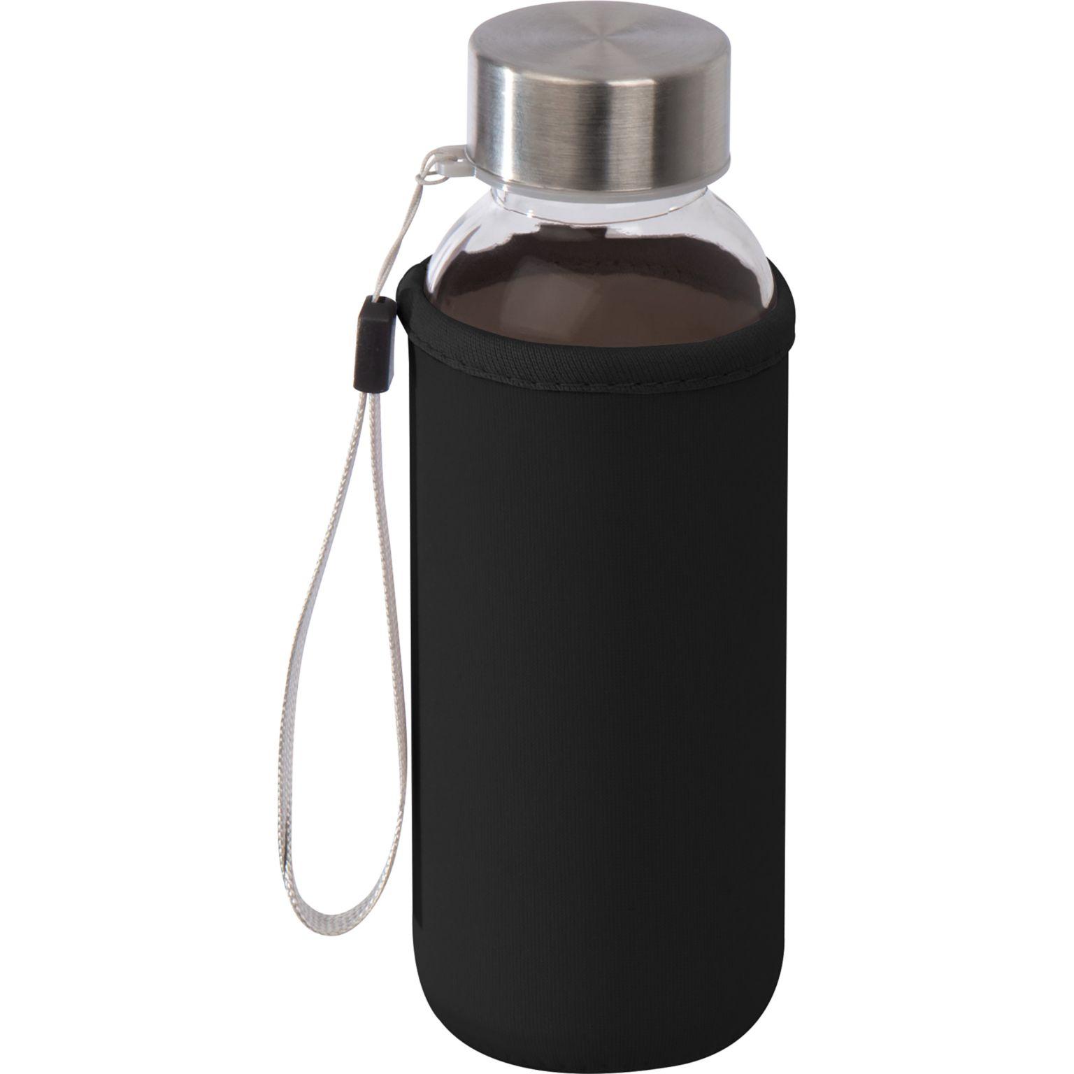 Drinking bottle with neoprene sleeve