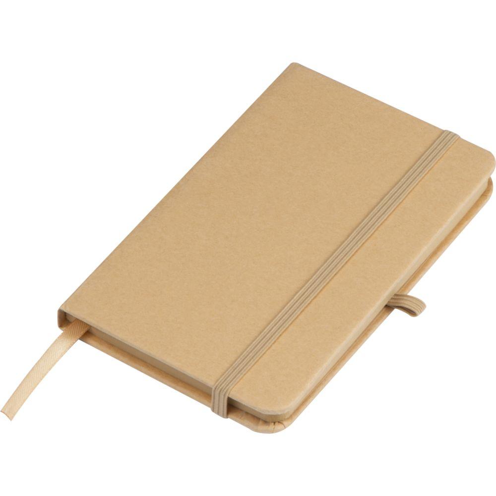 Cahier A6 avec couverture en papier de bricolage, signet, bande élastique pour fermer et boucle à stylo