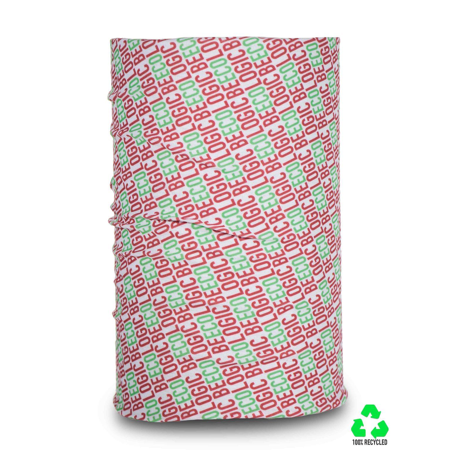 Tour de coup/Bandana tubulaire en 100% polyester recyclé RPET, Made in Italy