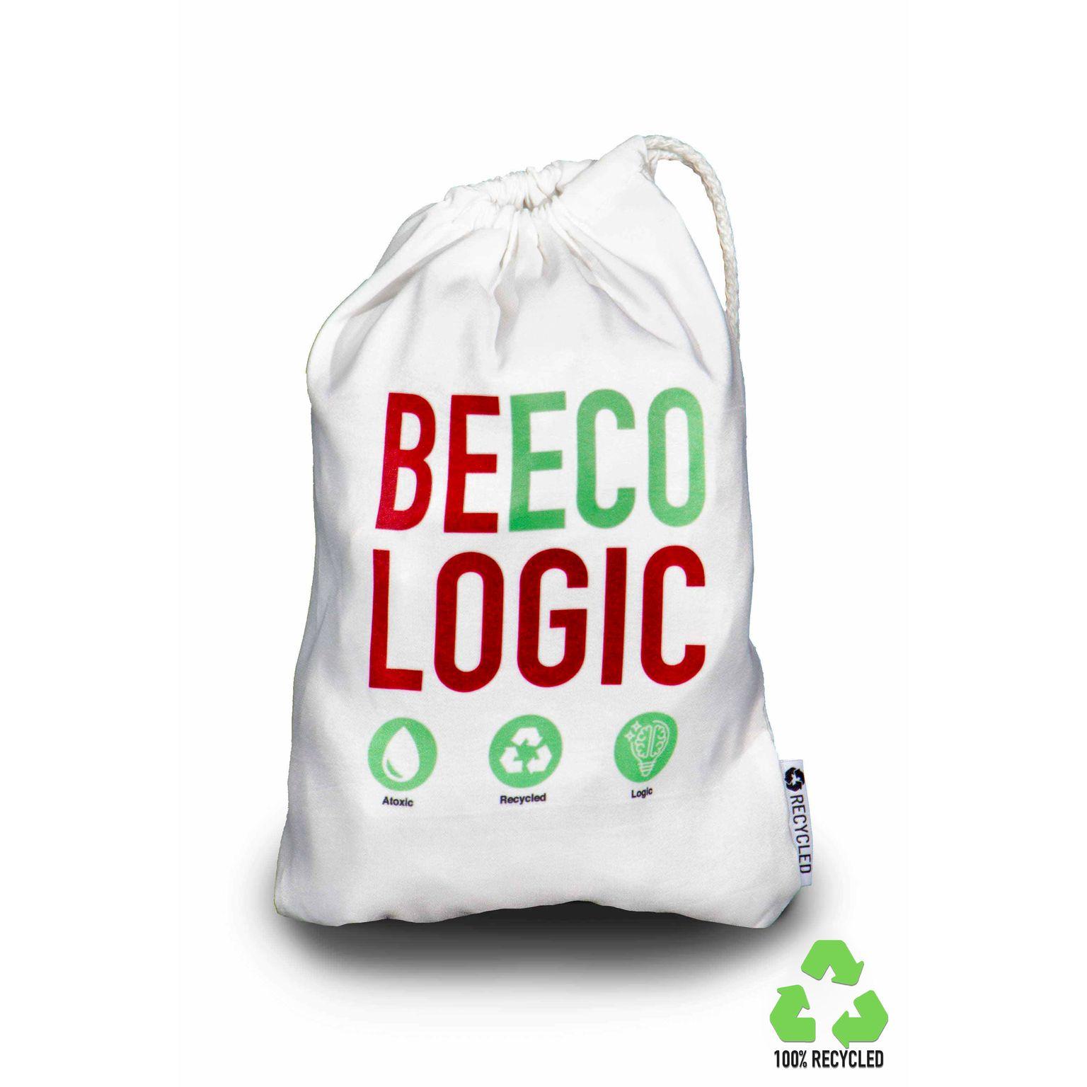 Sac pochon en 100% tissu recyclé RPET, Made in Italy