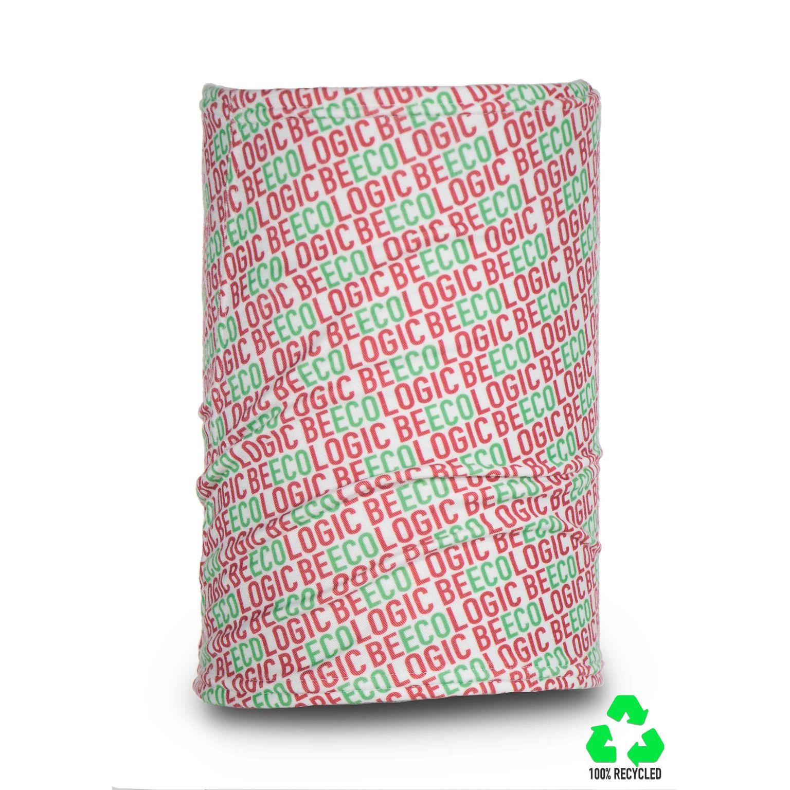 Tour de coup/Bandana tubulaire d'hiver en 100% tissue polaire recyclé RPET, Made in Italy