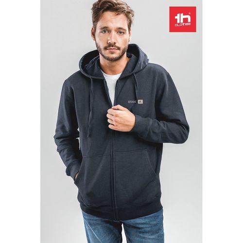 THC AMSTERDAM. Sweat-shirt pour homme, avec fermeture zippée et capuche, Objet personnalisable, comité social économique