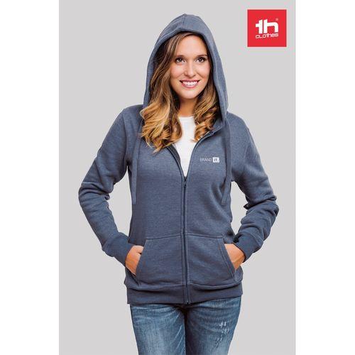 THC AMSTERDAM WOMEN. Sweat-shirt pour femme, avec fermeture zippée et capuche, Objet personnalisable, comité social économique
