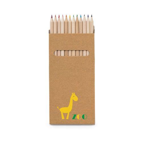 CROCO. Boîte avec 12 crayons de couleur, Objet personnalisable, comité social économique