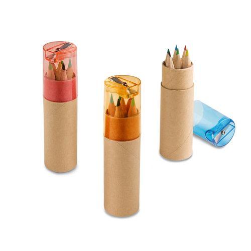 ROLS. Boîte avec 6 crayons de couleur, Objet personnalisable, comité social économique