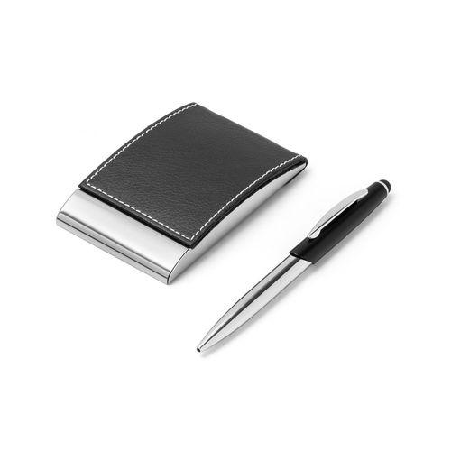 MURPHY. Ensemble stylo et porte-cartes - ISOCOM - OBJETS ET TEXTILES PERSONNALISES - NANTES