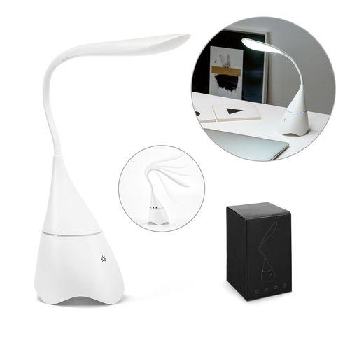 GRAHAME. Lampe de bureau avec enceinte, Objet personnalisable, comité social économique