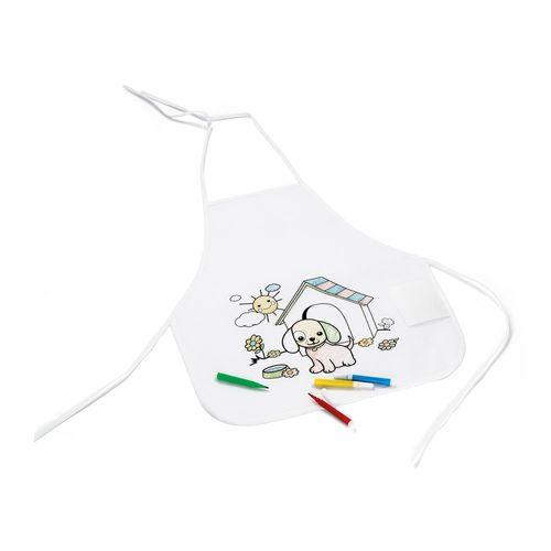 NILO. Tablier pour enfant pour colorier, Objet personnalisable, comité social économique