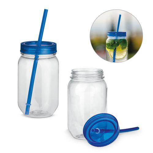 STRAW. Tasse avec paille 550 ml, Objet personnalisable, comité social économique
