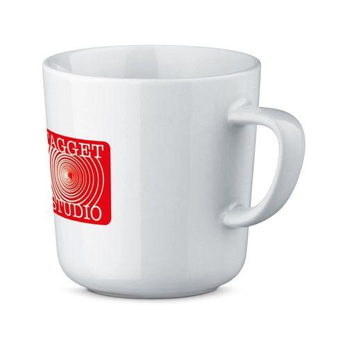 MOCCA WHITE. Mug en céramique de 270 ml, Objet personnalisable, comité social économique