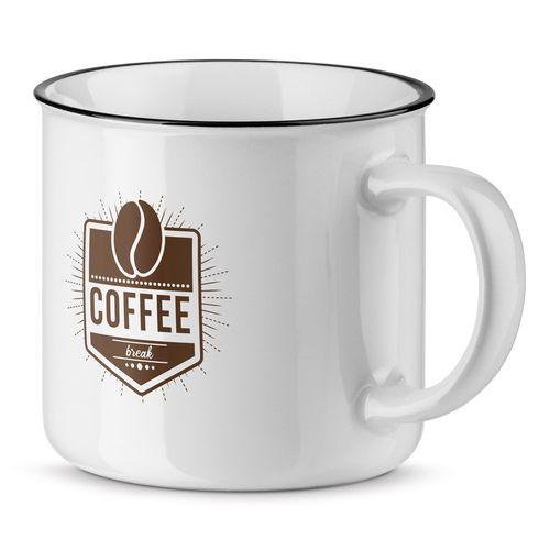 VERNON WHITE. Mug en céramique 360 ??ml, Objet personnalisable, comité social économique