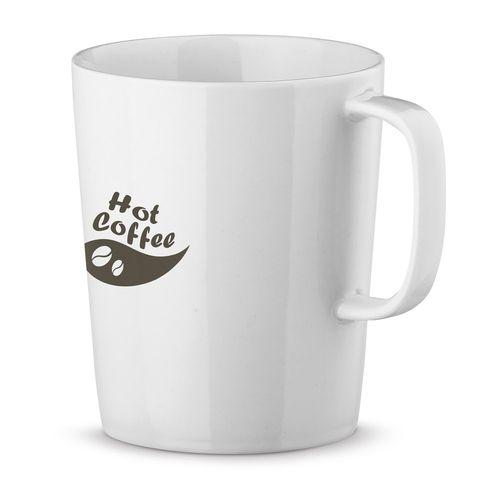 NELS WHITE. Mug en porcelaine 320 ml, Objet personnalisable, comité social économique