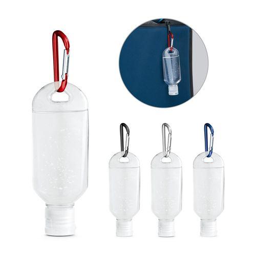 LYZE. Gel hydroalcoolique 50 ml avec mousqueton, Objet personnalisable, comité social économique