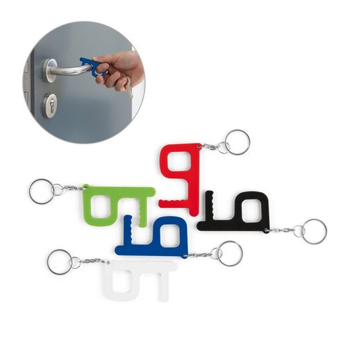 HANDY SAFE. Porte-clés multifonction traitement antibactérien, Objet personnalisable, comité social économique